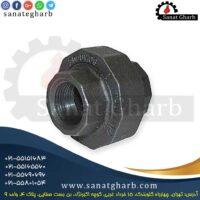مهره ماسوره سیاه دنده ای فولادی با بهترین کیفیت