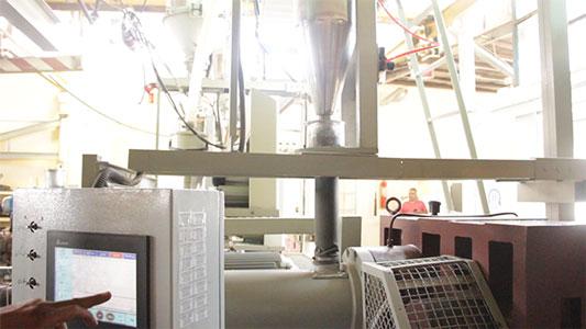 مرحله ذوب مواد اولیه پلی اتیلن