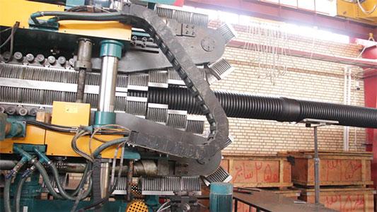 دستگاه تولید لوله کاروگیت دو جداره