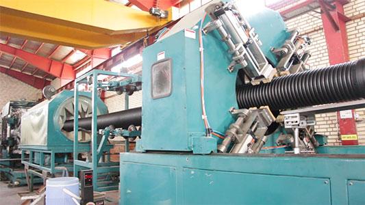 خط تولید لوله پلی اتیلن دو جداره کاروگیت